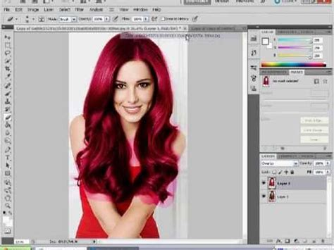 photoshop cs5 tutorial cutting out hair photoshop cs5 hair colour change tutorial youtube