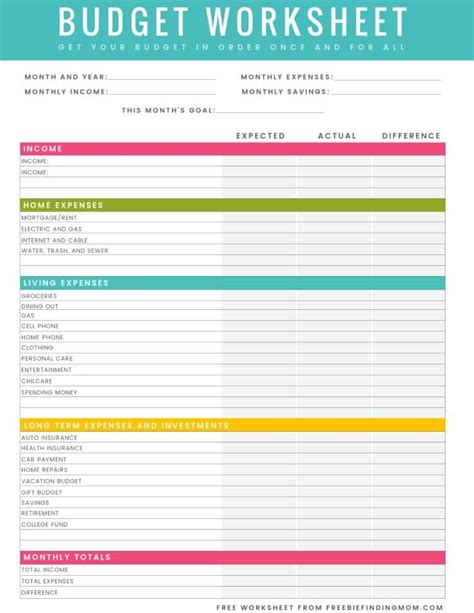 free budget sheet template budgeting worksheets free worksheets tataiza free