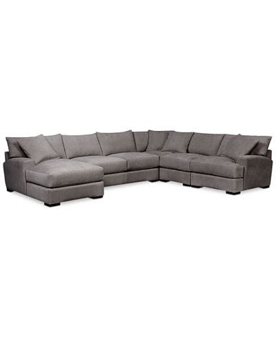 rhyder 4 pc fabric sectional with chaise rhyder 5 pc fabric sectional with chaise created for