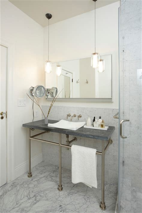 Hanging Light Fixtures For Bathrooms San Francisco Edwardian Home Traditional Bathroom San Francisco By Annabelle Herrera