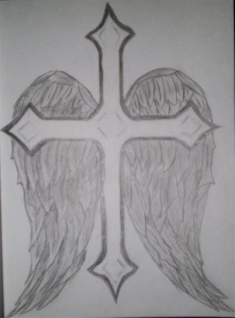 cross and angel wings by lilgrem on deviantart