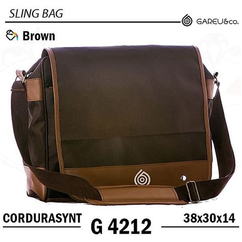 tas selempang cordura brown tas selempang casual sling bag laptop series cordura