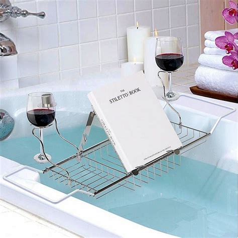 over the bathtub caddy adjusable chrome over bath tub tray organiser storage