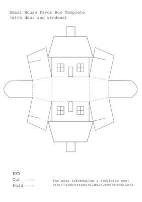 printable house shaped box use this free printable template to make a small house