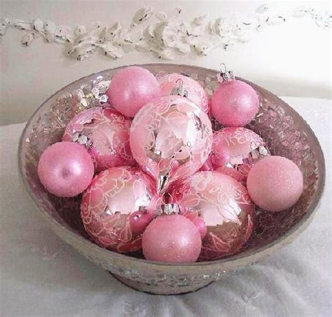 pink ornaments glasses ornaments pink christmas white