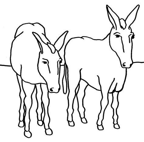 Imagenes Para Colorear Burro | dibujos de burros para colorear y pintar