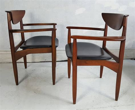 lane furniture dining room set of six modernist dining chairs lane perception at 1stdibs