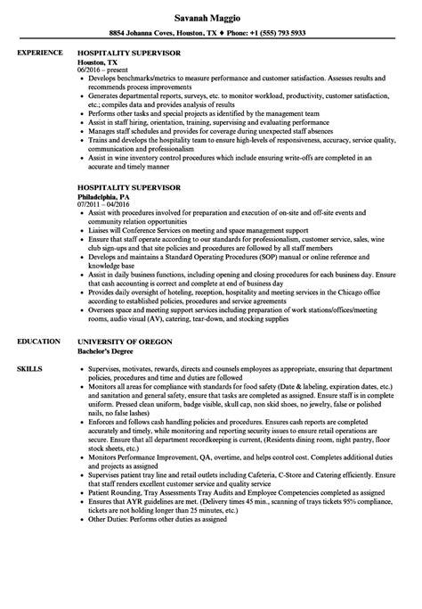 general manager supervisor sample restaurant management resume