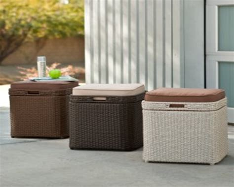 benches storage outdoor cushion storage deck boxes