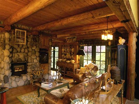 Home And Cabin Decor Log Cabin Interior Design Ideas Rustic Cabin Interior