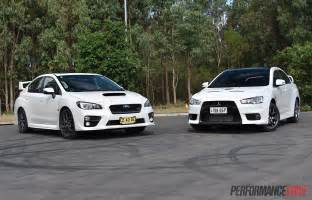 Subaru Wrx Vs 2016 Subaru Wrx Sti Review Track Test