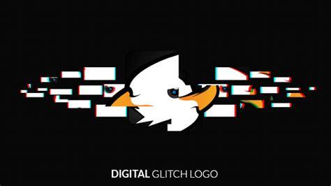 logo glitch tutorial glitch logo reveal grunge after effects templates f5