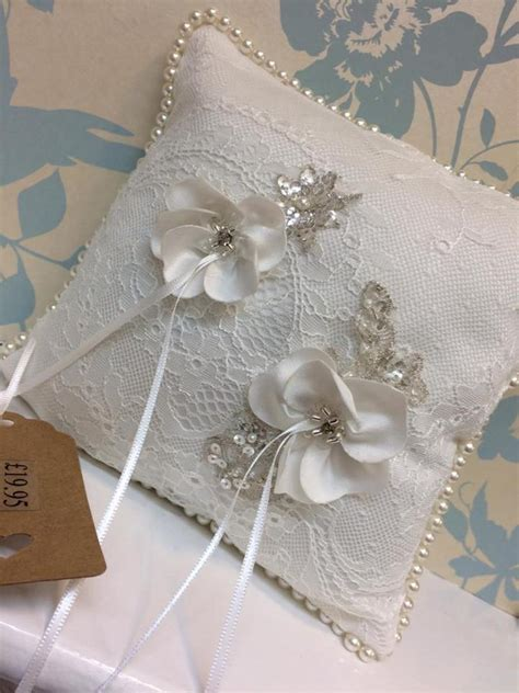 delph soft ivory chantilly lace with flower detail wedding