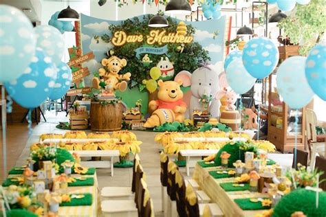 water themed birthday party honeybear kara s party ideas winnie the pooh 1st birthday party