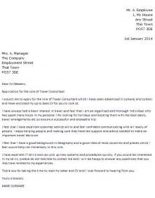 Travel Consultant Cover Letter Example Icover Org Uk