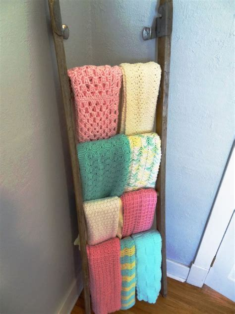 Blanket Storage Ideas by Wall Blanket Display Rack Woodworking Projects Amp Plans