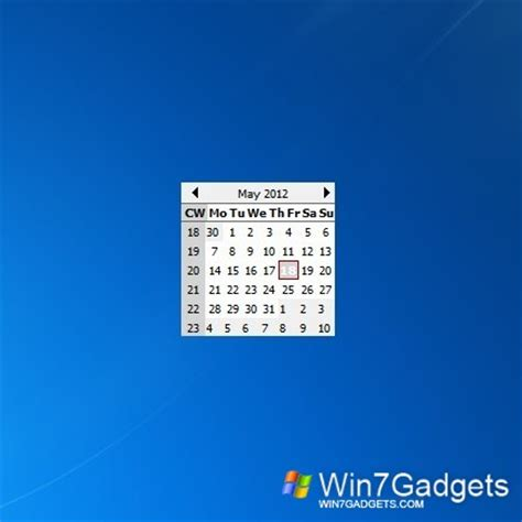 Desktop Calendar Windows Calendar Windows 7 Desktop Gadget