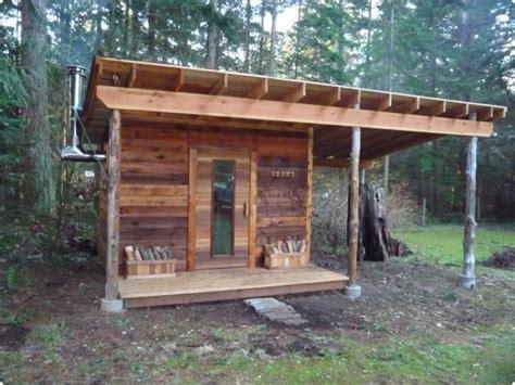 outdoor wood burning sauna plans diy free simple