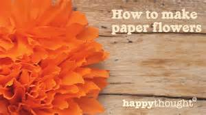 How To Make Mexican Paper Flowers - how to make a mexican paper flower for day of the dead