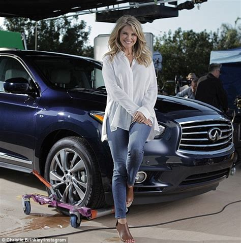 qx60 commercial actress christie brinkley continues to live the good life on a