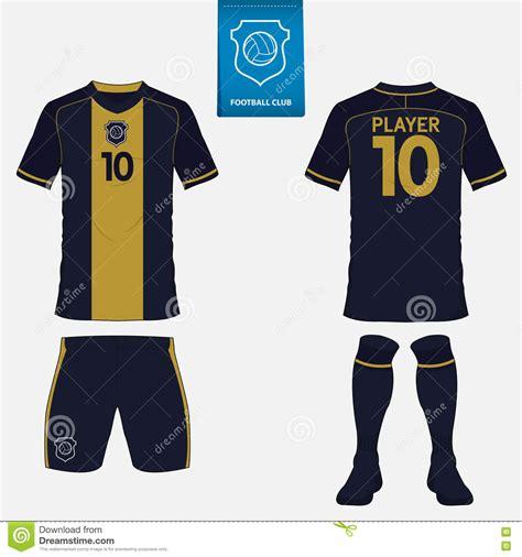 set  soccer jersey  football kit template front