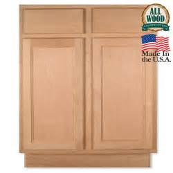 base 27 quot unfinished alder kitchen cabinet