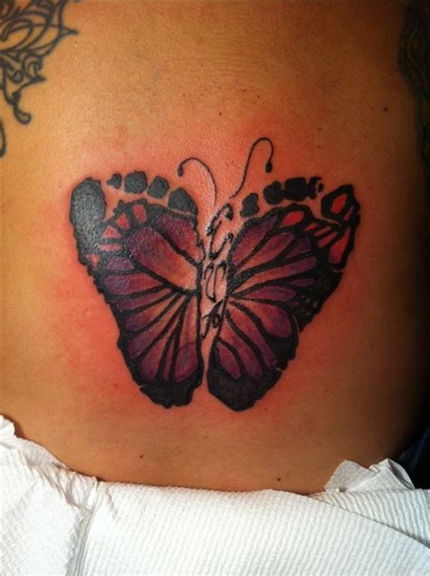 butterfly footprint tattoo if i have a i am so