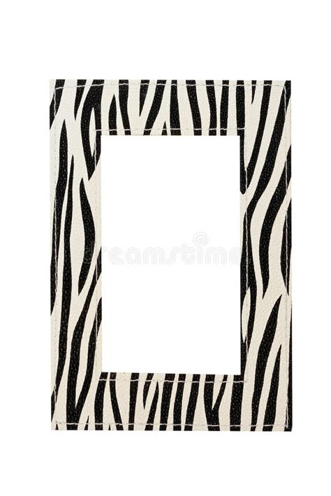 zebra pattern frame zebra frame stock image image of leather pattern