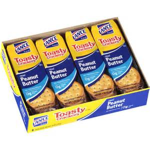 lance toasty peanut butter sandwich crackers 8 count 10
