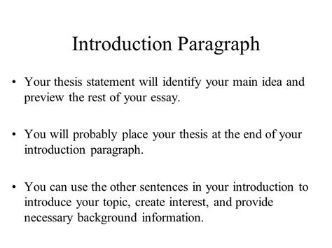 Intro And Thesis by Introduction Conclusion Paragraphs Ppt