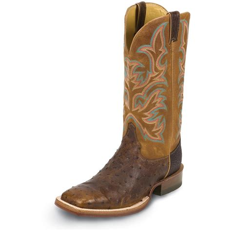 ostrich boots s justin 174 13 quot quill ostrich boots 582140
