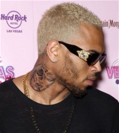 chris brown s neck tattoo top 10 worst celebrity tattoos ever