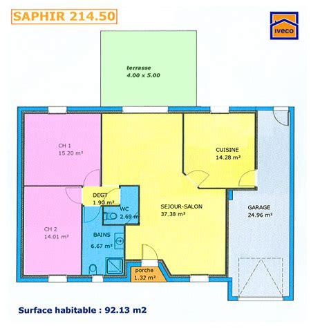 Plan Maison Plein Pied 80m2 plan maison plain pied 80m2 2 chambres
