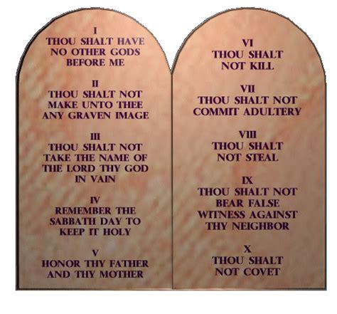 The Ten Commandments shocking differences between the ten commandments of god