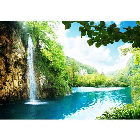 fototapete kinderzimmer berge vlies fototapete waterfall in paradise berge tapete