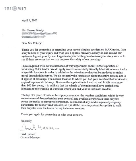 Complaint Letter Format To Bescom Trimet Gm Says Cyclists Should Walk Across Some Tracks Bikeportland Org