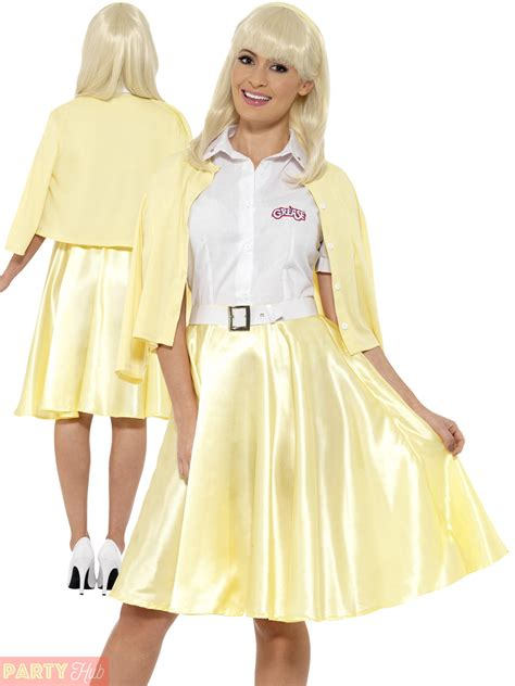 clothing shoes accessories costumes womens costumes ladies grease sandy costume adults 1950s fancy dress film