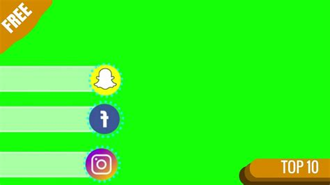 best for green screen top 10 green screen animated social media