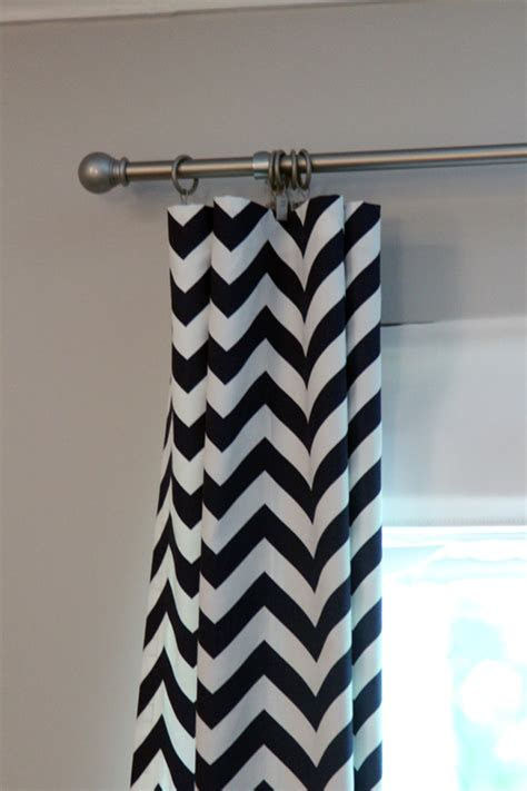 chevron design curtains no sew chevron curtains the lil house that could