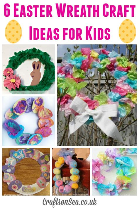 wreath craft for easter wreath craft ideas for crafts on sea