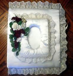customized wedding albums custom made wedding album in satin lace flickr photo