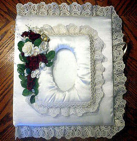 Handmade Wedding Photo Albums - custom made wedding album in satin lace flickr photo