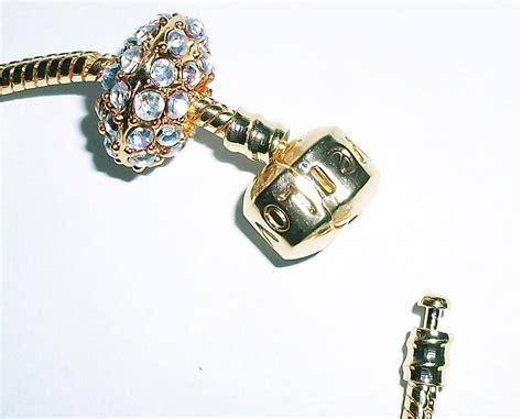 add a bead bracelet add a bead bracelet pandora style gold tone 7 5 ad