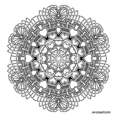 mandala coloring pages valentines mandala 58 by mandala jim on deviantart