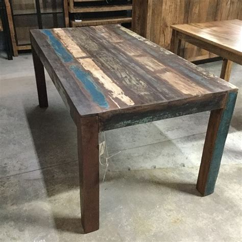 reclaimed wood dining table nadeau  orleans