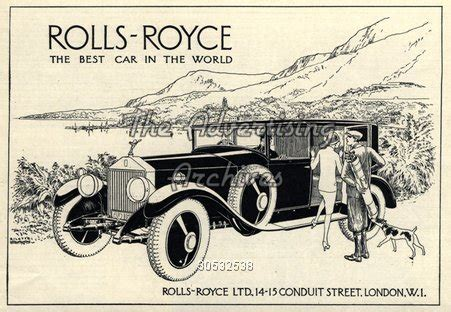 Rolls Royce Slogan The Advertising Archives Magazine Advert Rolls Royce