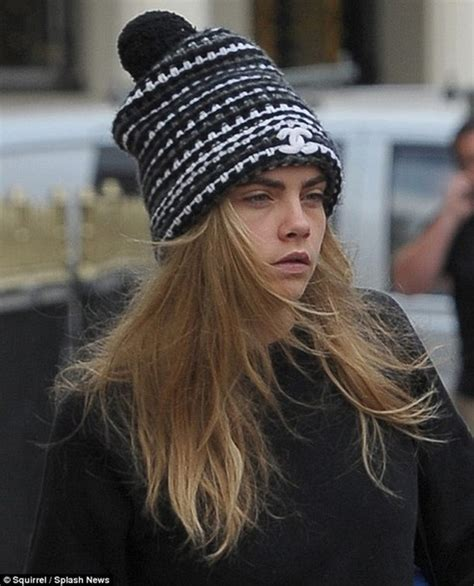 brows knitted hat cara delevingne chanel beanie chanel hat cara