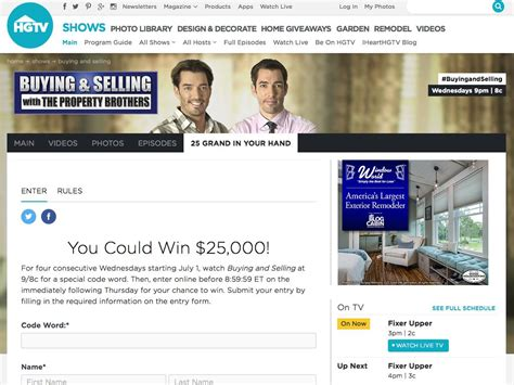 Hgtv 25 Grand In Your Hand Sweepstakes - hgtv 25 grand in your hand sweepstakes 2015 sweepstakes fanatics