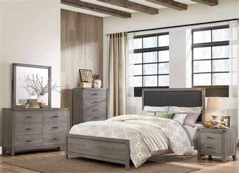 black panel bedroom set woodrow black upholstered panel bedroom set from
