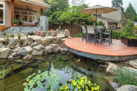 outdoor deck and water feature japanese room home garden design